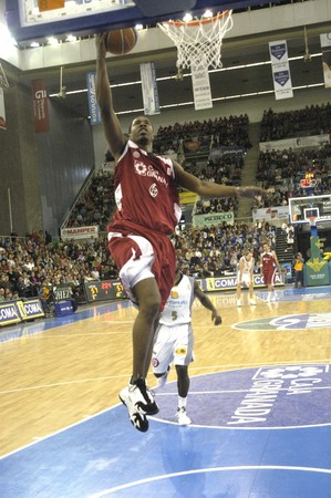 2009/04/19-Spain-Granada - Party ACB Basketball League between CB Granada and Minorca in the sports hall of Granada Stock Photo - 7536929