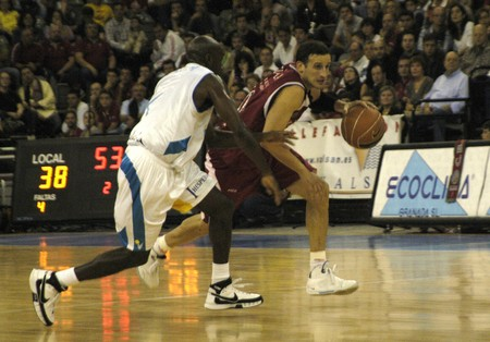 salle de sport: 20081012-Espagne-Grenade - parti ACB Basketball League entre CB Granada et Cajasol dans la salle de sports de Grenade �ditoriale