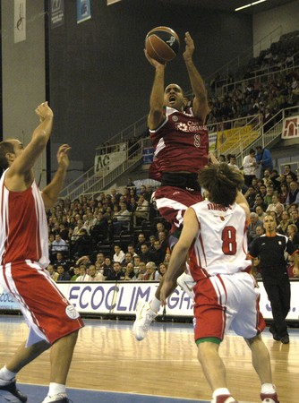 cb: 20081116-Spain-Granada - Party ACB Basketball League between CB Granada and Murcia, in the sports hall of Granada