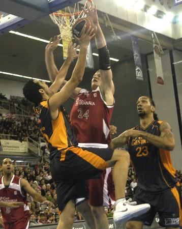 2008/11/23-Spain-Granada - Party ACB Basketball League between CB Granada and Fuenlabrada, on the sports hall of Granada Stock Photo - 7536899