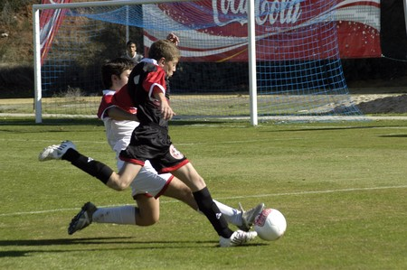 20081109-España-Granada - fútbol match entre escuelas provinciales en la ciudad de Granada  España  Editorial