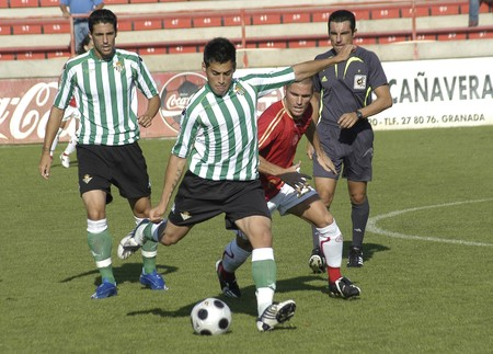 rivals rival rivalry season: 20080831-Spain-Granada - Football game between the Granada 74 and Betis B in the city of Granada  Spain Editorial