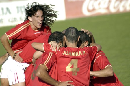 20080831-Spain-Granada - Football game between the Granada 74 and Betis B in the city of Granada  Spain Editorial
