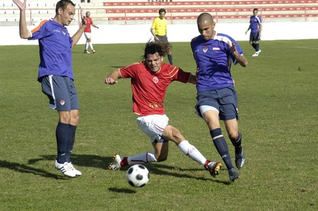 2008/10/04-Spain-Granada - Football game between the Granada 74 and Guadalajara in the city of Granada / Spain Stock Photo - 7537080