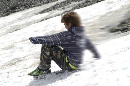 Children playing in the snow Stock Photo - 7557500