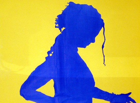 silhouette of woman Stock Photo