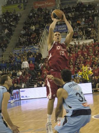 2009/01/11- Granada-Spain-Party ACB Basketball League between CB Granada and Estudiantes Stock Photo - 7602900