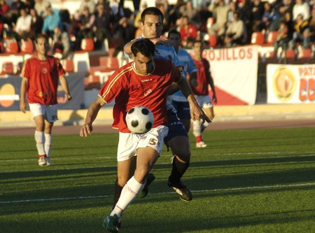 2008/12/21- Granada-Spain-Football game between the Granada 74 and the Granada CF Stock Photo - 7603027