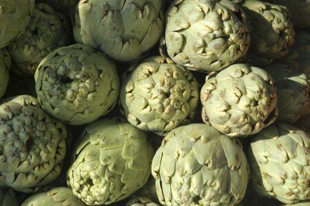 Artichokes in a market photo