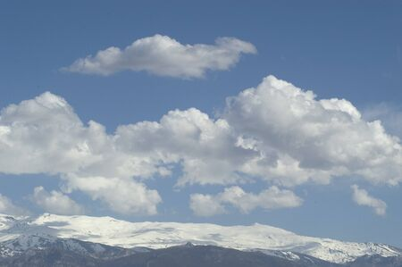climatology: Sierra Nevada with clouds