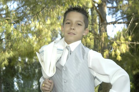 Children in the day of his first communion photo