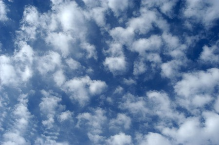 climatology: Blue sky with white clouds Stock Photo