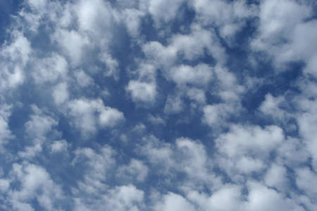 climatology: blue sky with white clouds