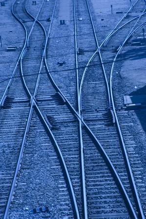 Cruce de ferrocarril en la estación de trenes de Granada