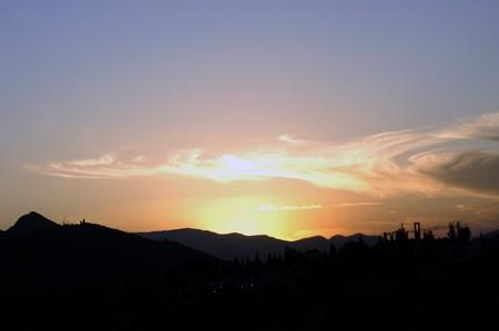 Clouds in the sky over the Sierra Elvira Granada photo