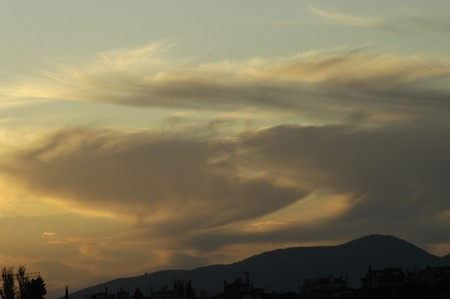 Clouds in the sky over the Sierra Elvira Granada photo