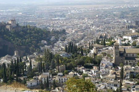 View of the city of Granada photo