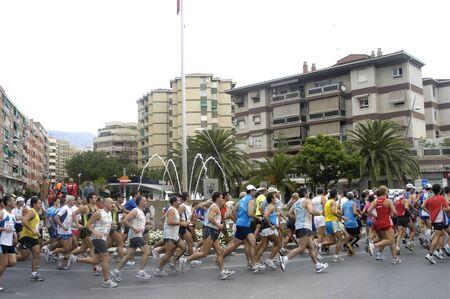 2009/09/20- Motril, Granada, Spain-Marathon Race International Media Motril, Granada Province Stock Photo - 7959926