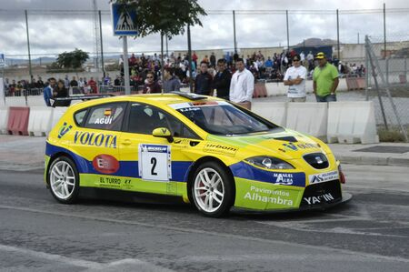 2010/12/10 - Granada - Spain - Display with racing car racing cars of various categories in Granada Stock Photo - 8722484