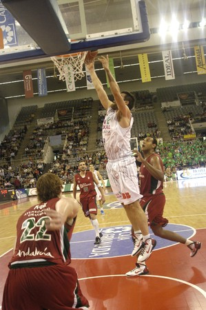 20101024- Granada-Spain-party basketball ACB CB Granada between Granada and the work of Vitoria Box