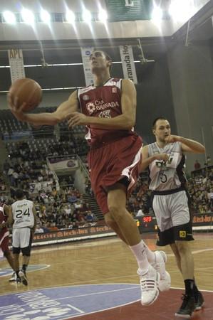 2009/11/07- Granada-Spain-Party ACB basketball league in Granada between CB Granada DKV Juventud Stock Photo - 8151549