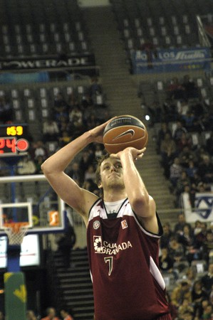 2009/11/07- Granada-Spain-Party ACB basketball league in Granada between CB Granada DKV Juventud Stock Photo - 8151580