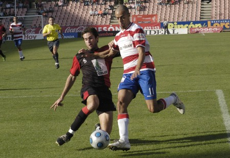 10/04/2009 - Granada-Spain-football game between the Granada Atlético CF and Sangonera Stock Photo - 8151536
