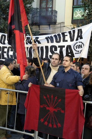 manifestations: 2009-01-02-Granada, Spain - Fascists in the day of the Taking of Granada Editorial