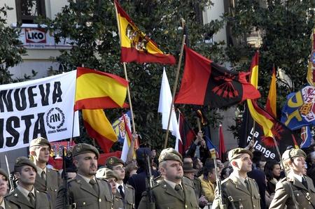 fascist: 2009-01-02-Granada, Spain - Fascists in the day of the Taking of Granada
