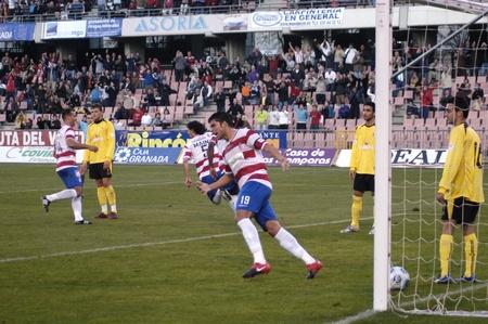 2/06/2009 - Granada-Spain-football game between the Granada and Murcia CF Imperial Stock Photo - 8321912