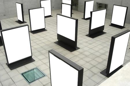b n: Blank boxes Stock Photo