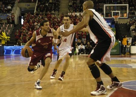 2010/01/10-Granada - Spain - Basketball game between the Granada and Murcia Stock Photo - 8448567