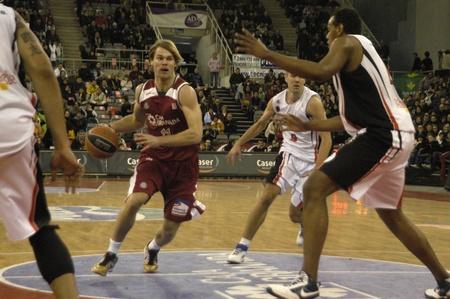 2010/01/10-Granada - Spain - Basketball game between the Granada and Murcia Stock Photo - 8448980