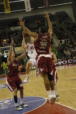 2009/12/30-Granada - Spain - Basketball game between the Granada and Caja Laboral de Vitoria Stock Photo - 8448580