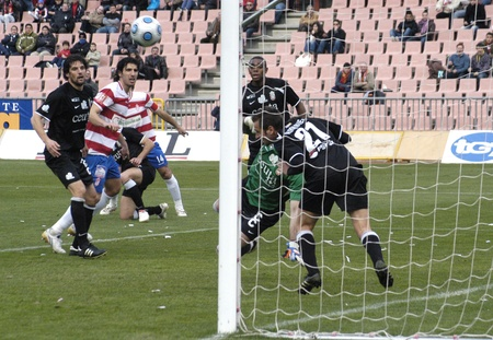 2010/02/14 - Granada - Spain-football game between the Granada and Ceuta Stock Photo - 8461714