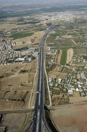 aerial view of town of albolote la, in the province of granada photo