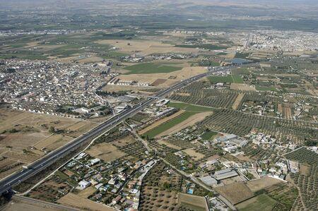 aerial view of town of la albolote in the province of granada photo