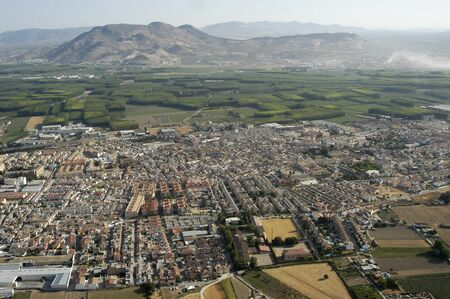aerial view of santa fe, in the province of granada photo