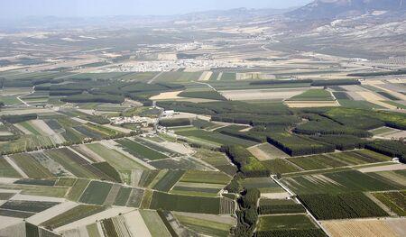 vista aérea de la Vega de Granada Foto de archivo