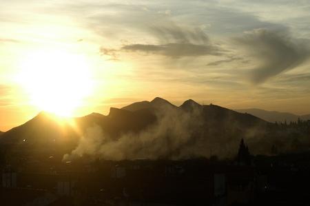 Incendio en el municipio de albolote (granada) Foto de archivo - 9763678
