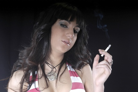 woman smoking Stock Photo - 8570136