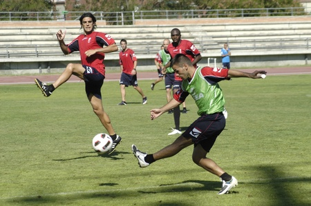 granada cf workouts at the sports complex in granada blanca nunez 07/20/2010 Stock Photo - 9690274