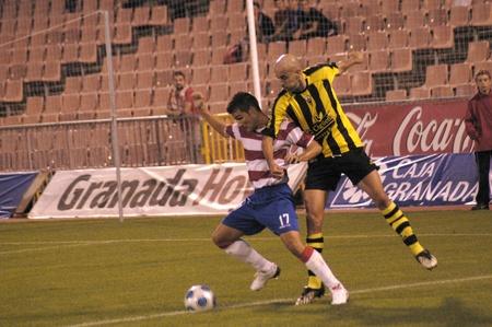 soccer match between fc granada and san roque de lepe martn pictured ortega Stock Photo - 9690304