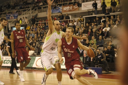 basketball game between the acb cb granada and unicaja malaga 12012011