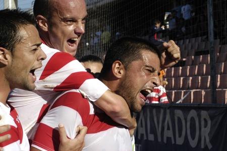 gradas estadio: 20100509 - Granada - Espa�a - partido de f�tbol entre el Granada Club de f�tbol