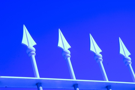 pointed fence Stock Photo - 9775289