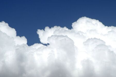 sky with clouds or cumulus nimbus diurnal evolution Stock Photo - 9775291