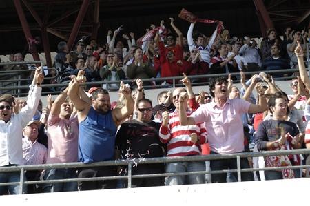 football match in the league ahead between granada cf and rayo vallecano goal celebration of granada cf 10172010