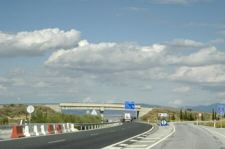 resection: spanish highway in the province of granada