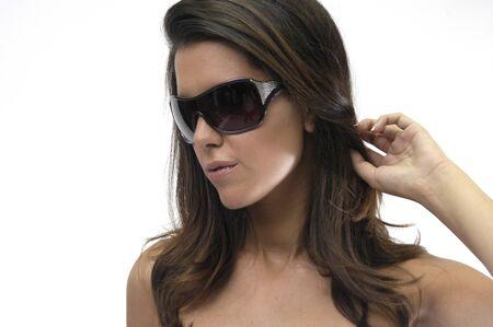beautiful brunette photo